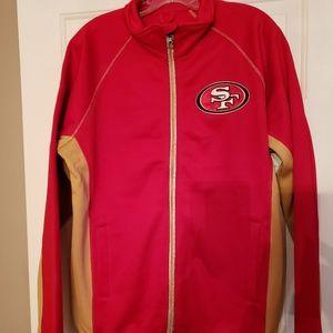 NFL licensed 49ers Zip up sweater